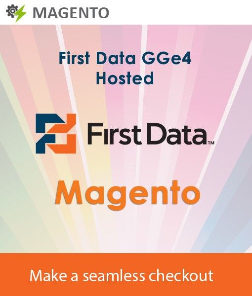 The Firstdata GGe4 hosted payment gateway can be integrated with the