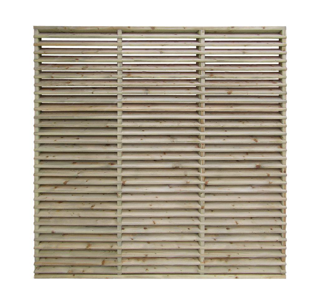 Vuren Houten Lamellenscherm 180 x 180 cm Louvre Scherm naaldhout