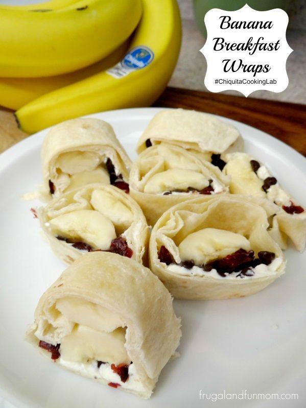 Banana Breakfast Wraps with Chocolate Chips and More! #ChiquitaCookingLab #MMlovesChiquita #Sponsored