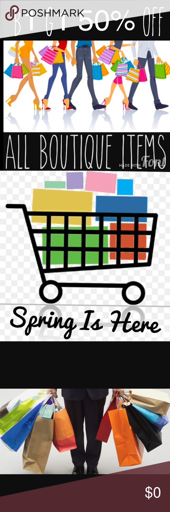B1 G1 50% OFF ALL BOUTIQUE ITEMS!! LIMITED TIME!! ALL BOUTIQUE ITEMS B1G1 50% OFF• No other offers will be accepted on boutique items during this sale• Comment under each item you want and I will make a separate listing for you• Any questions please ask!!• Other