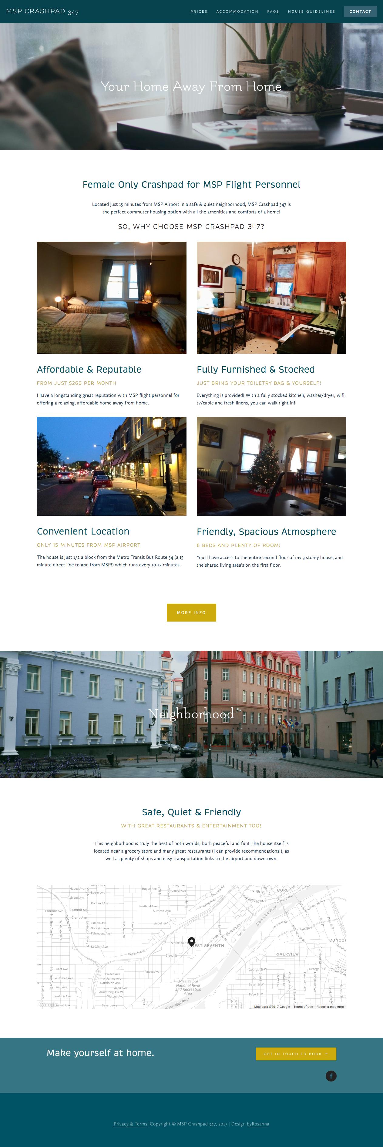 Simple, modern website design for MSP Crashpad 347 | byRosanna