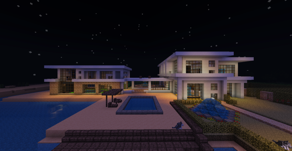 Minecraft beach house large modern beach house for Big modern houses on minecraft