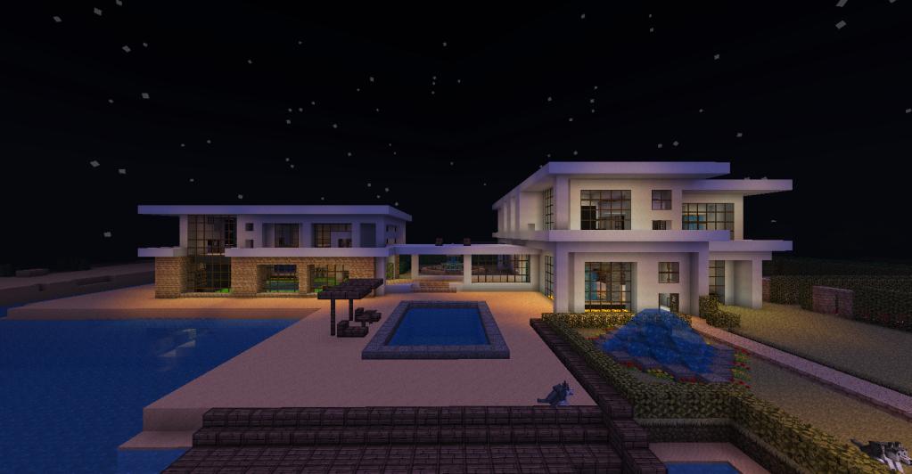 Minecraft Beach House Large Modern Beach