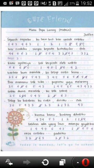Judika Mapala1 Not Angka