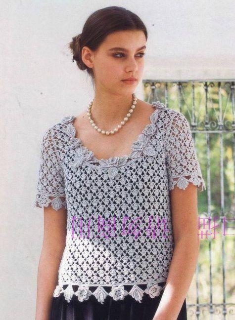 modele tricot au crochet femme