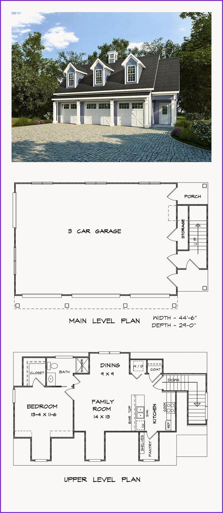 Awesome 4 Car Garage House Plans With Images Carriage House Plans Garage Apartment Plan