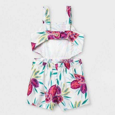 8ec3fa70b8c Genuine Kids® from OshKosh Toddler Girls  Tropical Print Open Back Romper    Target
