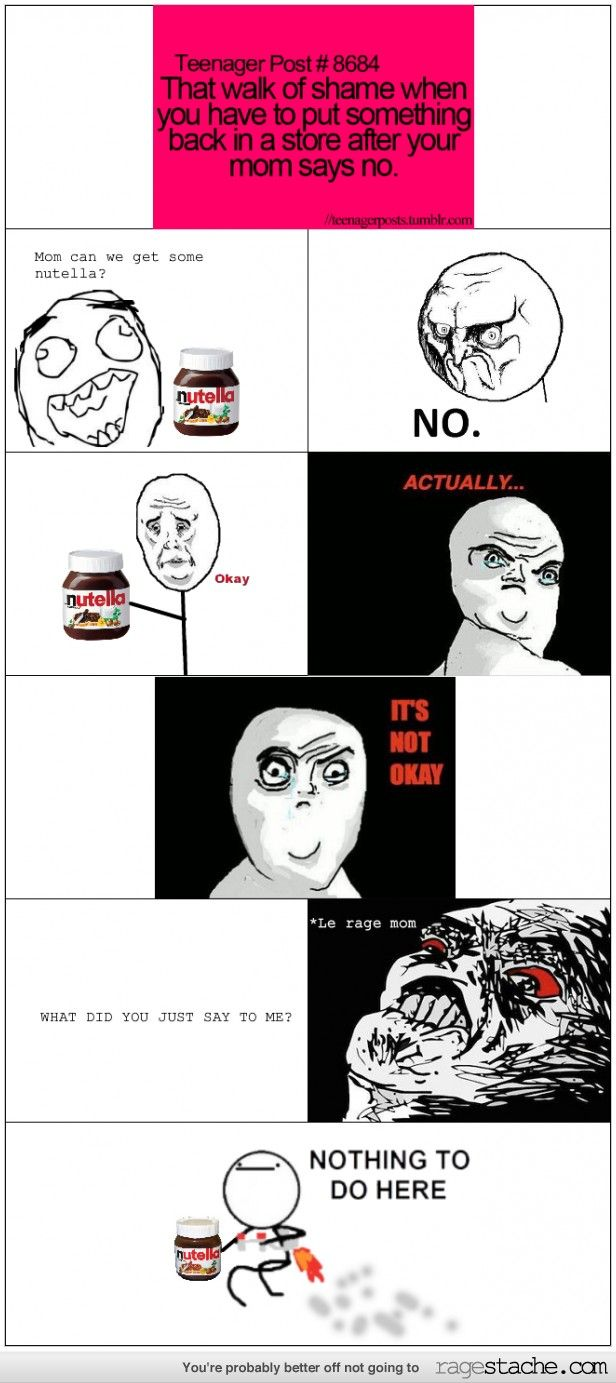 Nutella Mom Ragestache Rage