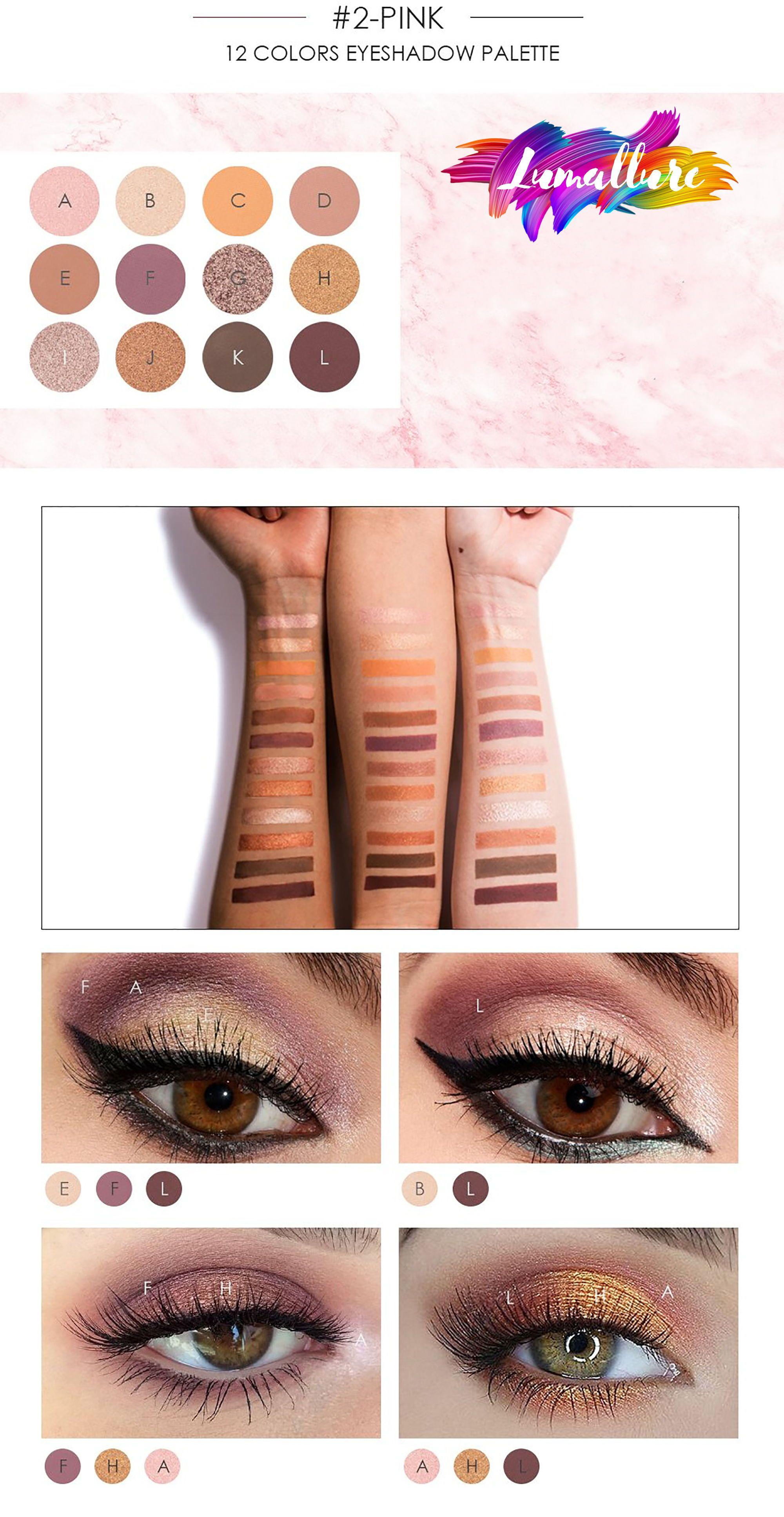 Focallure 12 Colors Matte & Glitter Eyeshadow Glitter