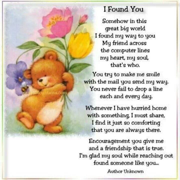 Finding Sweet Long Lost Friends And The Joy Of Learning They Were Never Really Lost 3 I Found You Lucky To Have You Thinking Of You Quotes