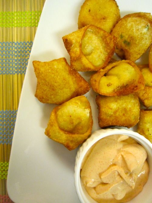 Crab and Cream Cheese Wontons...sound easy and good