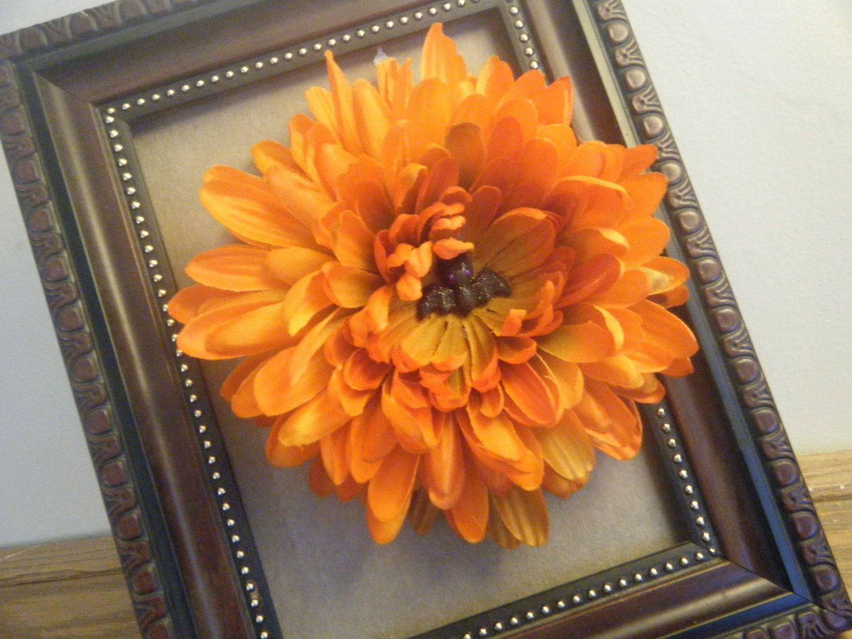 Orange Flower Clip. $7.99, via Etsy.