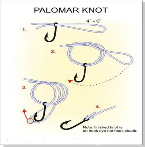 Palomar knot arts and crafts pinterest palomar knot for Fishing knots for hooks