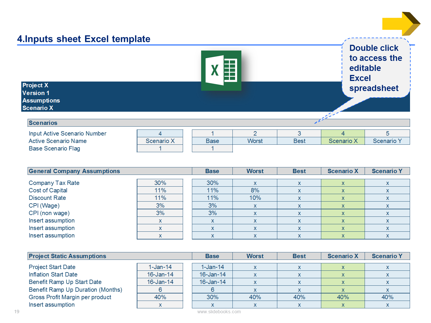 financial model excel template