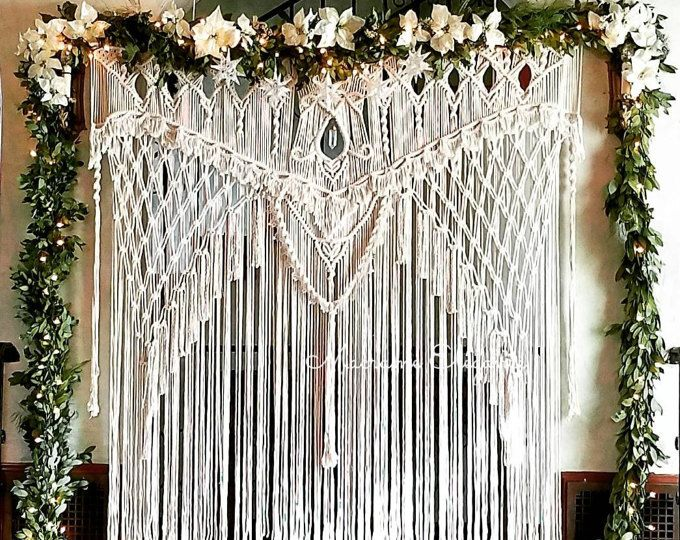 Macrame Wedding Backdrop Wedding Arch Boho Wedding