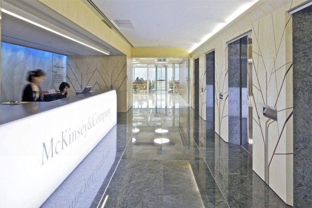 McKinsey & Company Hong Kong Office / OMA Elevator lobby