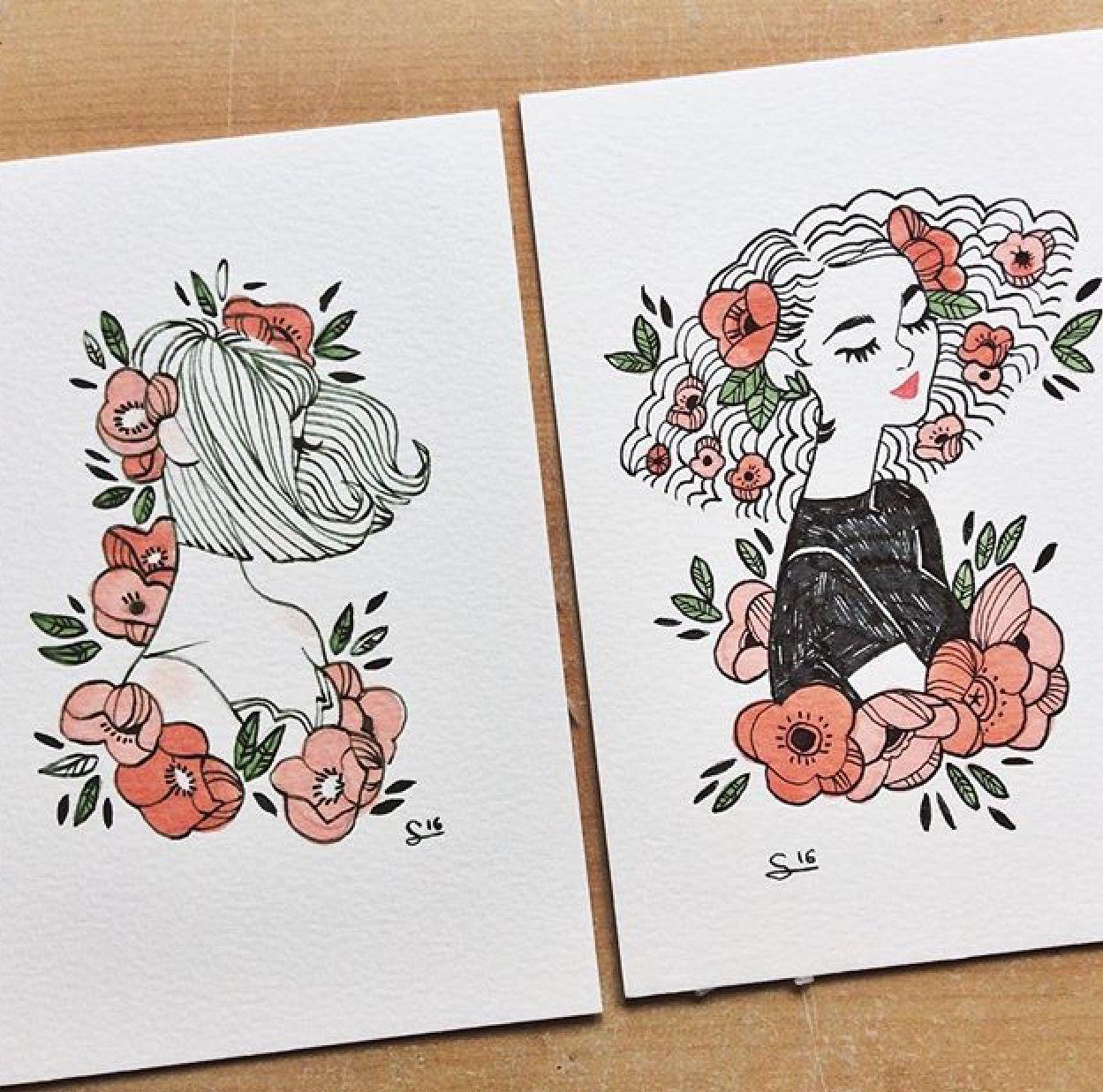 flowers in hair artsy fartsy
