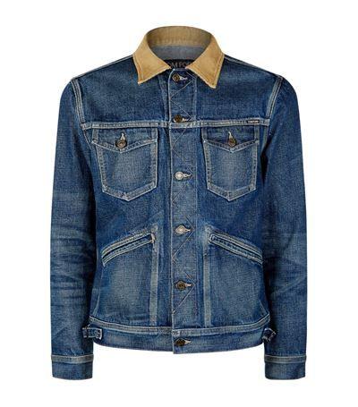 TOM FORD Corduroy Collar Denim Jacket. #tomford #cloth #