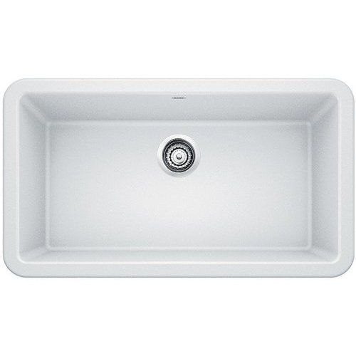 Blanco 33 Inch Ikon Single Bowl Kitchen Apron Sink White 401899