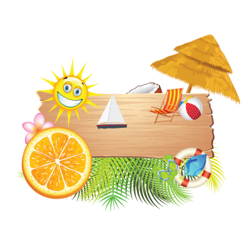 Summer Holiday Elements Summer Holiday Vacation Png And Vector With Transparent Background For Free Download Summer Holiday Tropical Leaves Holiday