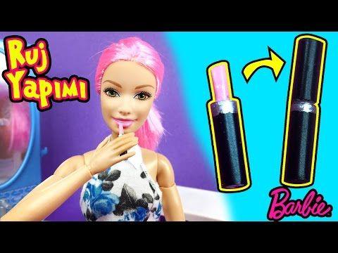 Barbie Ruj Yapımı Kendin Yap Barbie Makyaj Malzemeleri Oyuncak