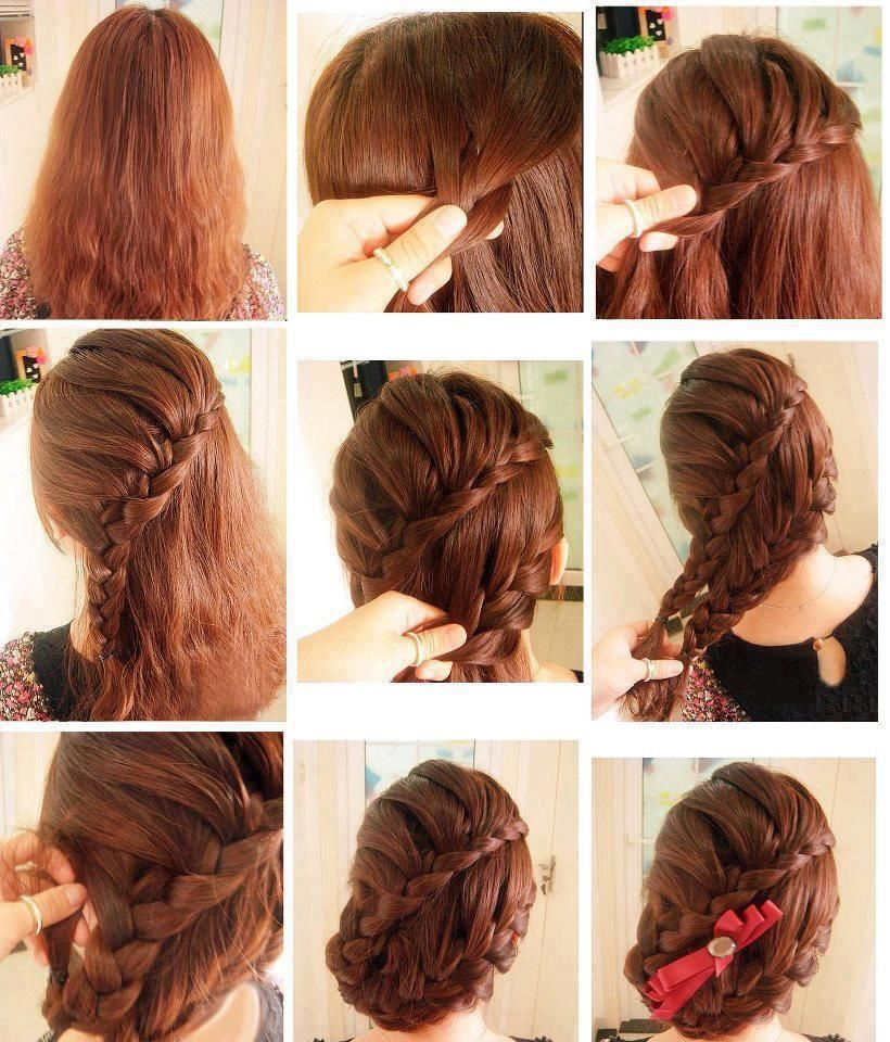 The Braid Inside Bun! Easy To Do *does Take A Little