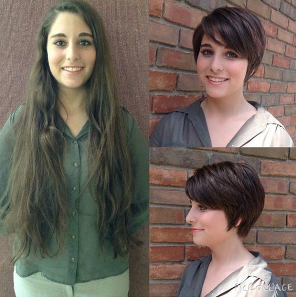Hübschen Vorher Nachher Frisuren Von Lang Auf Kurz! Neue Frisur