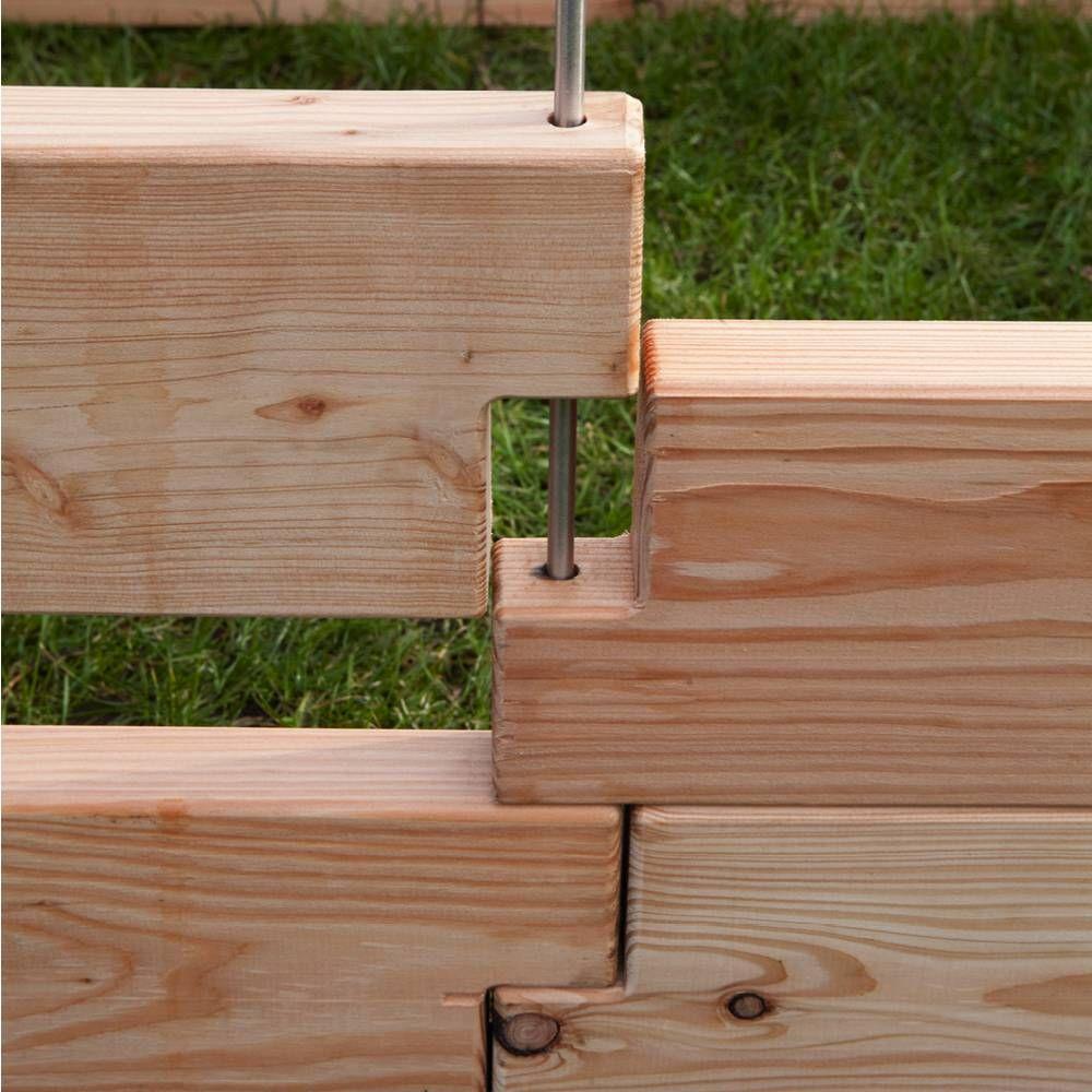 Hochbeet 1 Lärchenholz naturbelassen regional Stecksystem