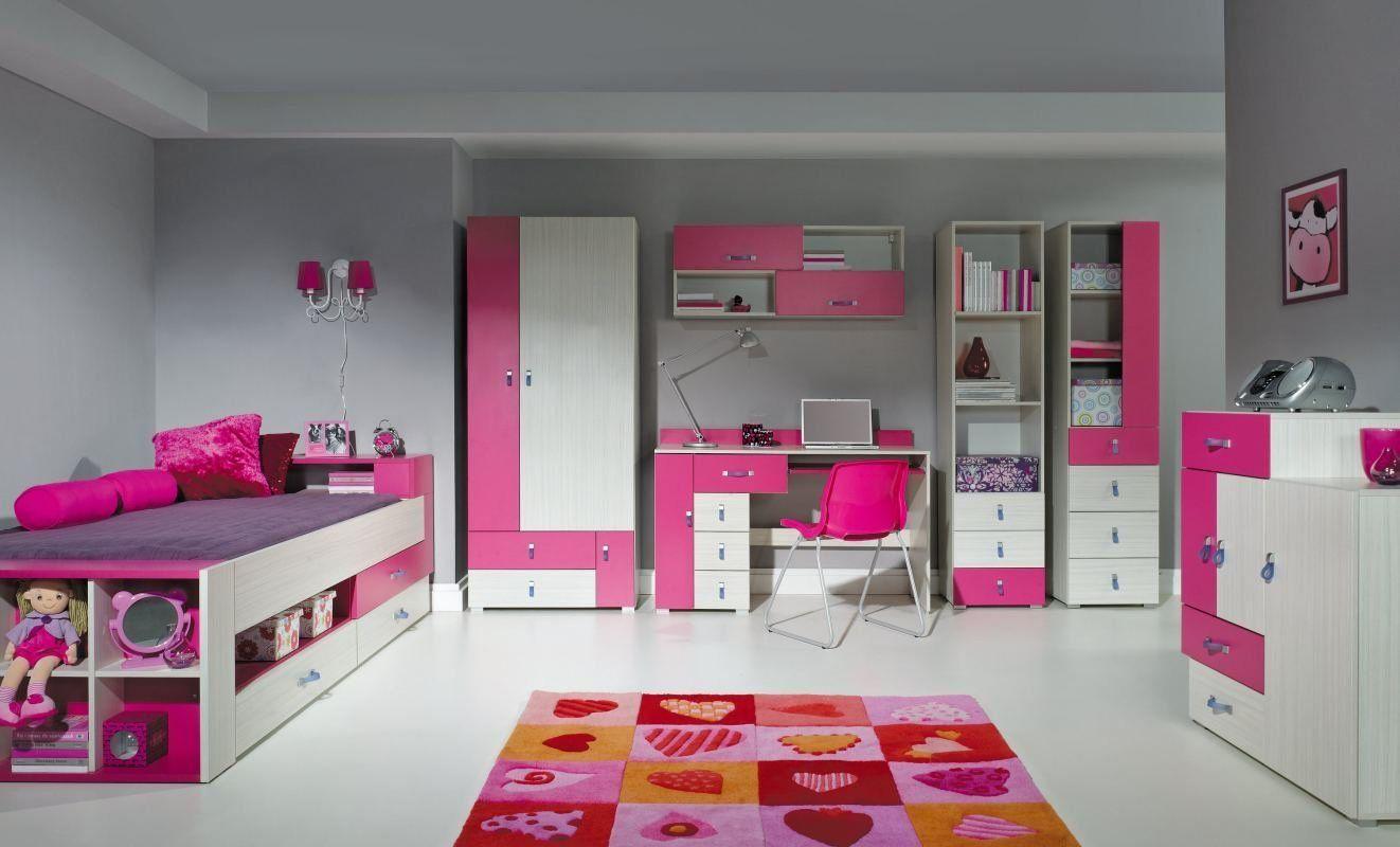 Komplettes Kinderzimmer Set in pink / weiss *1