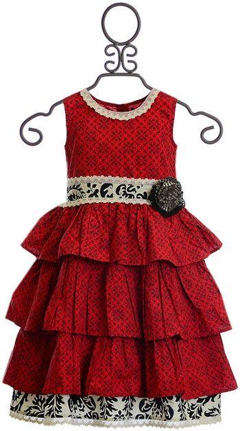 Mustard Pie Clara Dress Enchanted in Red