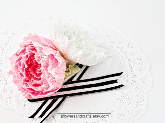 Peony Wrist Corsage  FOR CUTOM COLORS AND PAPER COLOR CHART, PLEASE CONTACT ME…