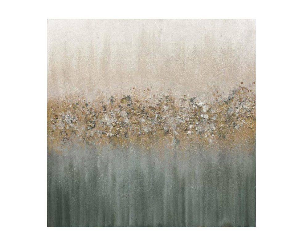 Golden Fog Iii Glitter By Beverly Fuller Wrapped Canvas Graphic
