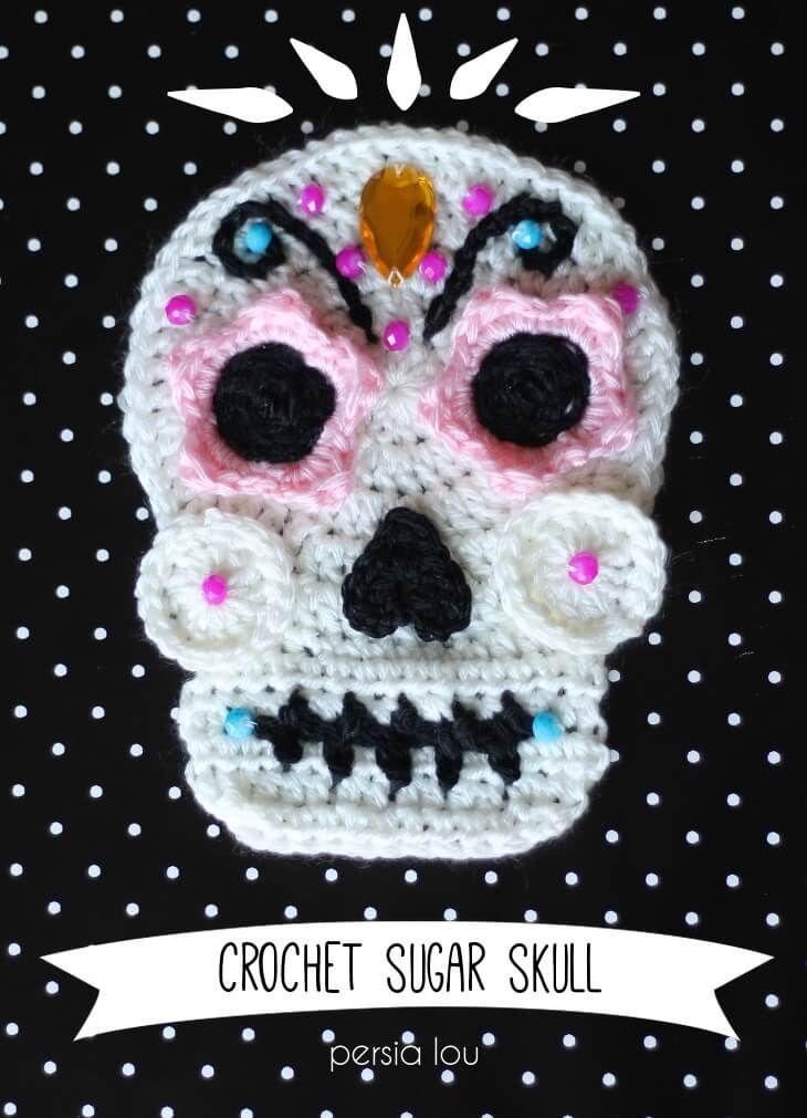 Resultado de imagen de sugar skull crochet | Todo calaveras ...