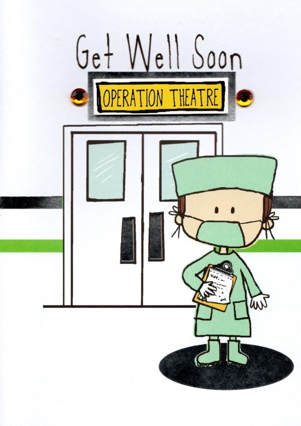 Get Well Soon Having An Operation Greeting Card Get Well Soon