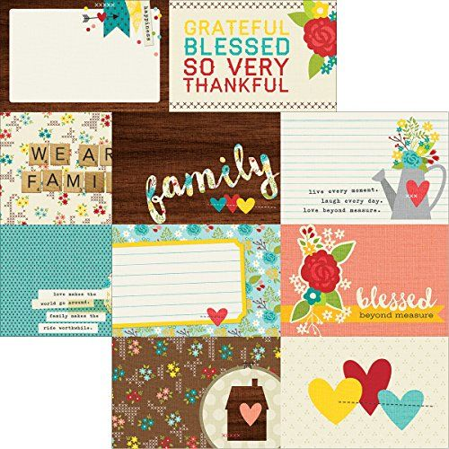 Simple Stories We Are Family 4x6 Horizontal Journaling Card