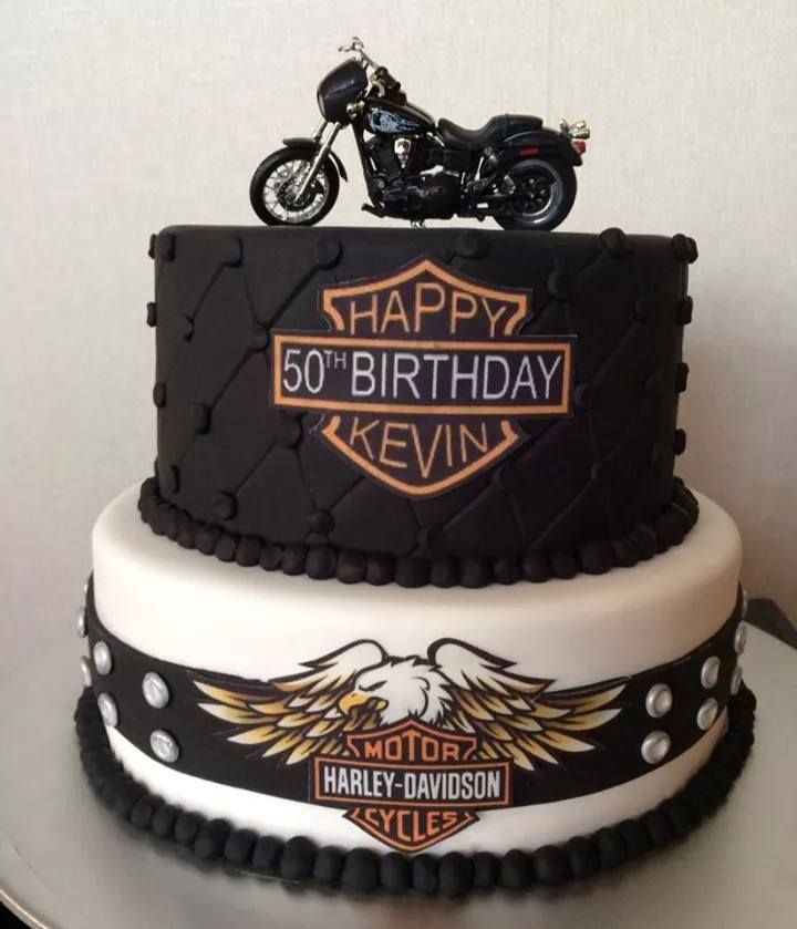 Harley Davidson Cake Motorbike Birthday Cake With Images