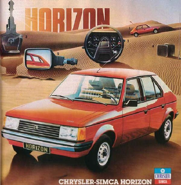 Development of the Chrysler - Talbot - Simca Horizon