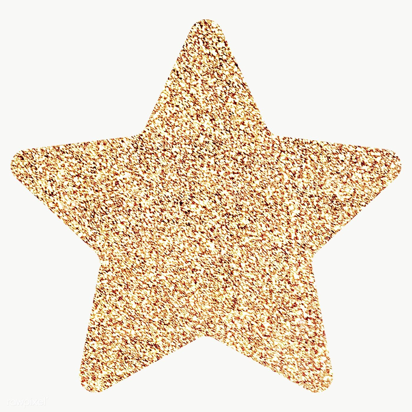 Glitter star sticker transparent png free image by