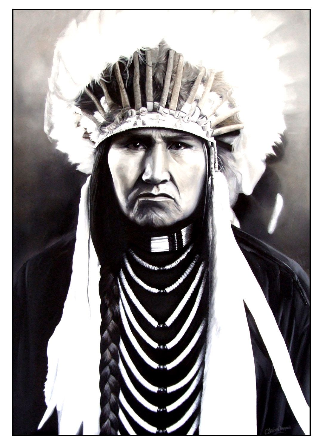 Free Coloring Page Coloring Adult Native American Indian Chief 2