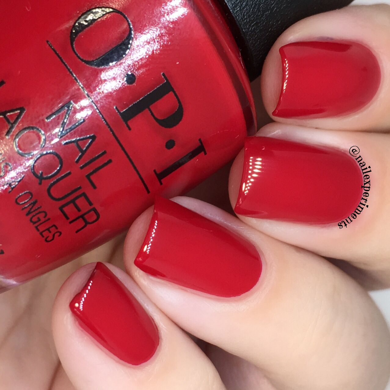 opi adam said its new years eve swatch Opi red nail