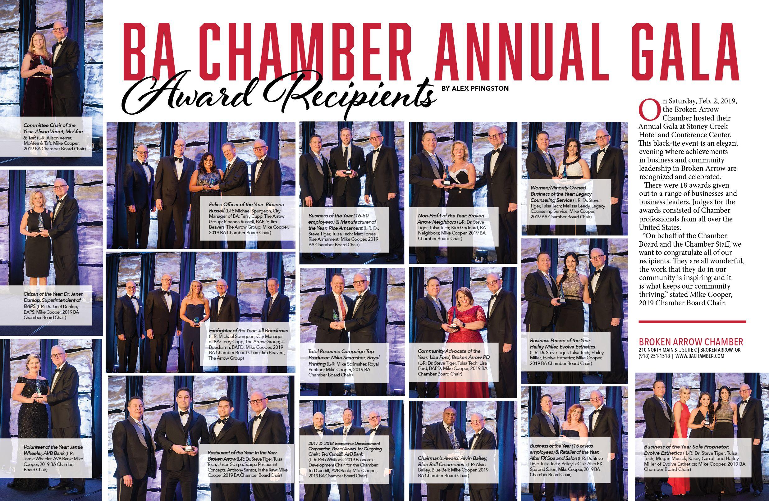 Broken arrow chamber annual gala gala broken arrow annual