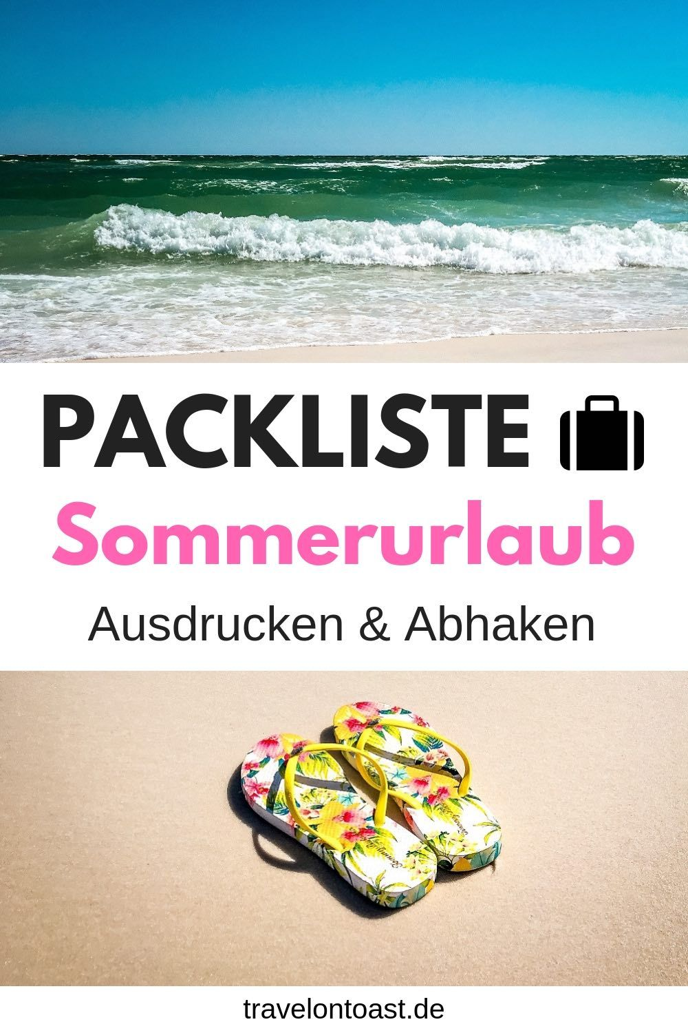 Packliste Sommerurlaub für den Strand - Travel on Toast