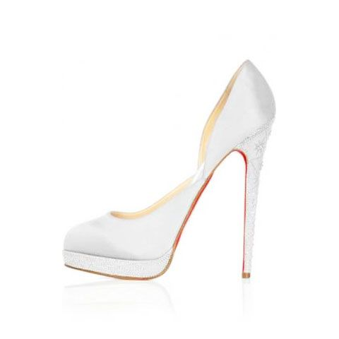 01cc31a834f Silver Christian Louboutin Eugenie Suede Cut-out Pumps