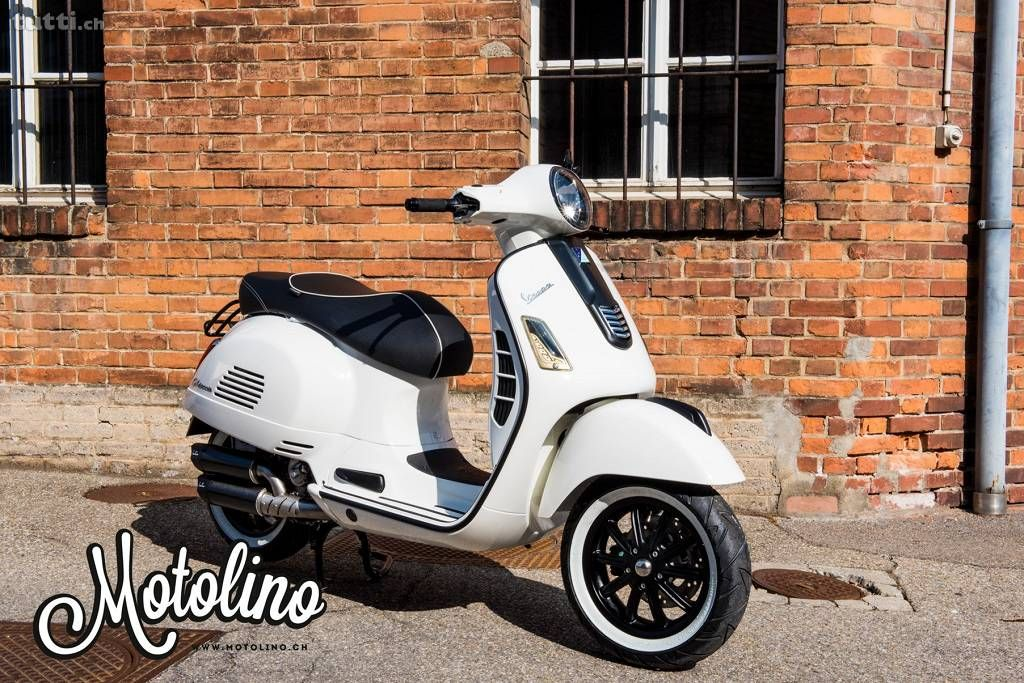 vespa gts 300 tuning special umbau 13 zoll weiss z rich 2wheels vespa gts. Black Bedroom Furniture Sets. Home Design Ideas