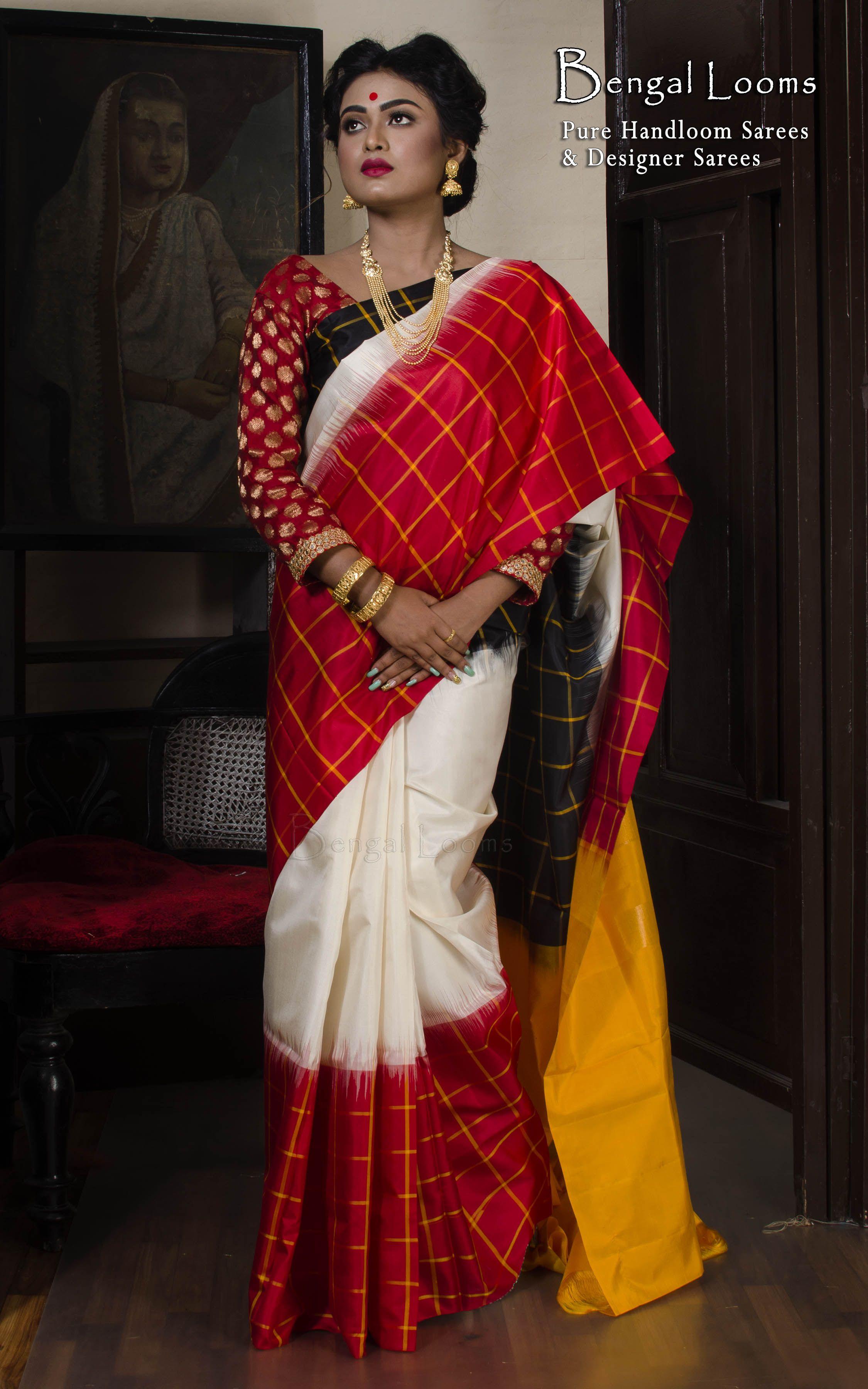 bd233f83d15b9 Pure Kanchipuram Silk Saree in Yellow