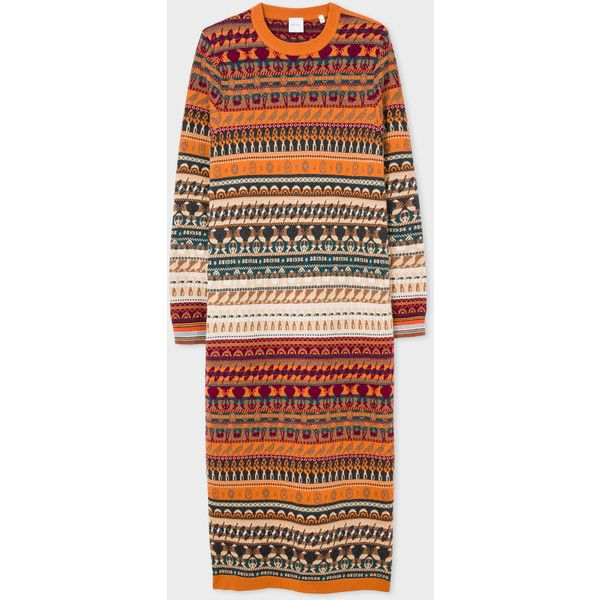 Paul Smith Women's Fair Isle Knitted Wool Dress ($515) ❤ liked on ...