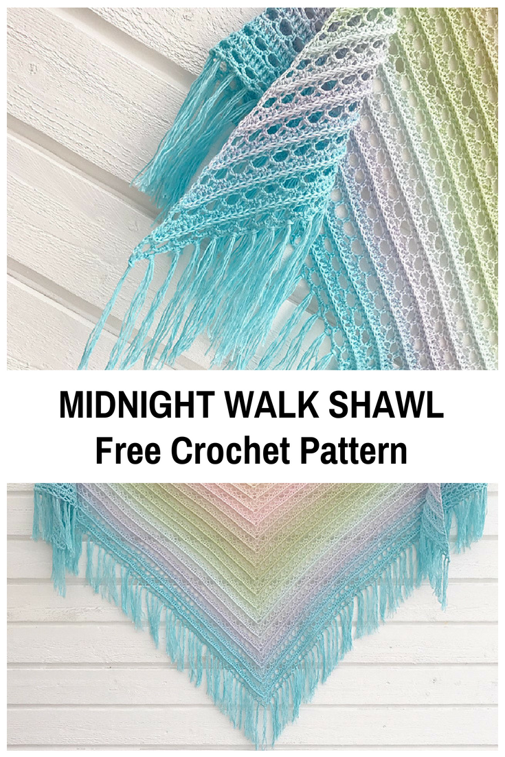 Beautiful Lacy Shawl Crochet Pattern In Pastel Colours - Knit And Crochet Daily #shawlcrochetpattern