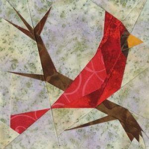 Cardinal Quilt Block Paper Piecing Idea Paper Pieced