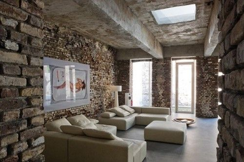Raw look loft in düsseldorf interior rustic