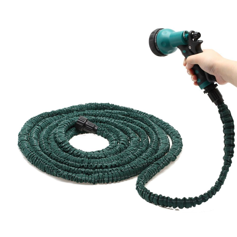 Deluxe 25 50 75 100 Feet Expandable Flexible Garden Water Hose W Spray Nozzle Antiwear Ultraviolet Proof Comfort Grip With Images Water Garden Water Hose Hose Nozzle